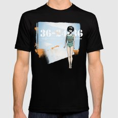 Barbie SMALL Black Mens Fitted Tee