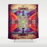 Shower Curtain featuring Mandala by Aaron Carberry