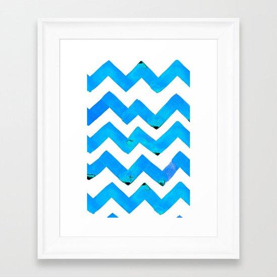 C'EST LA VIV SIGNATURE WATERCOLOR  ZIG ZAGZ ~ ICE ICE BABY Framed Art Print