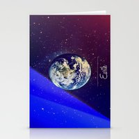Cosmos Earth Stationery Cards
