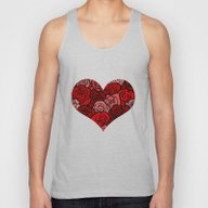 Red Roses Unisex Tank Top