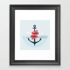 Lets Sail  Framed Art Print