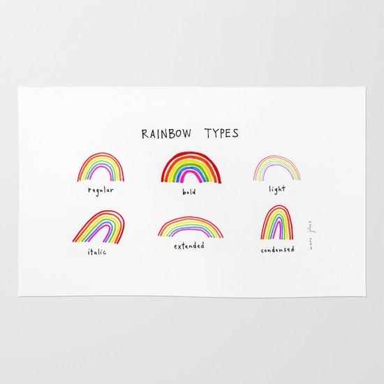 rainbow types Area & Throw Rug