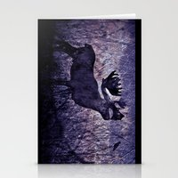 In The Woodlands, Far Far Away (purple version) Stationery Cards