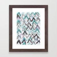 ZigZag Blue Framed Art Print
