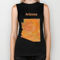 Arizona Map Biker Tank