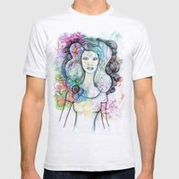 Doodle Girl Mens Fitted Tee Ash Grey SMALL