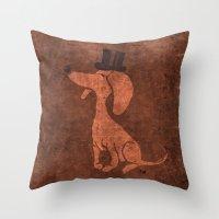 Arrogant Dog Throw Pillow