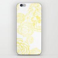 Bloom - Yellow iPhone & iPod Skin