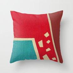 The Red Giraffe Throw Pillow