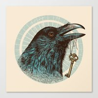 Raven's Head Canvas Print