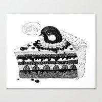 Birdie Baked In A Pie Canvas Print