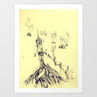 moving around Art Print