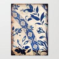 Blue Oriental Vintage Pa… Canvas Print