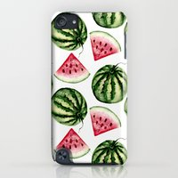 iPod Touch Cases featuring Watermelon pattern. by Julia Badeeva