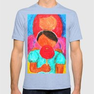 Inner Child Mens Fitted Tee Tri-Blue SMALL