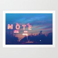 Tara Motel Art Print
