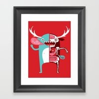 All monsters are the same! Framed Art Print