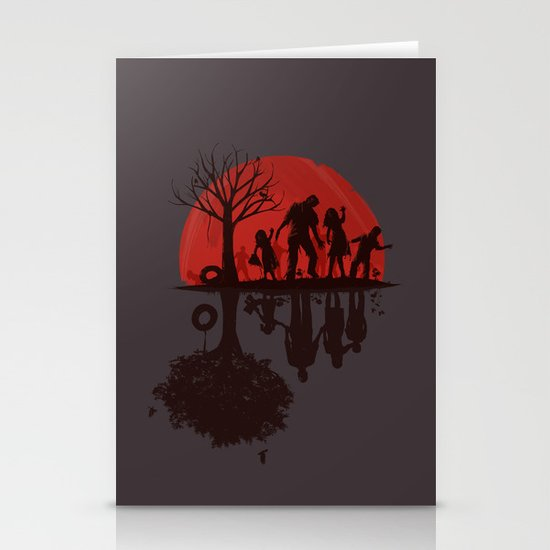 A Family Once (dark version) Stationery Card