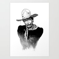 Zombie Wayne. Art Print