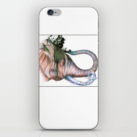 Elephant Shower in Red iPhone & iPod Skin