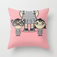 Throw Pillow featuring Some Girls Are Bigger Th… by Tratinchica