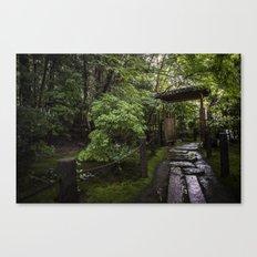 Stoney Path in the Rain Canvas Print