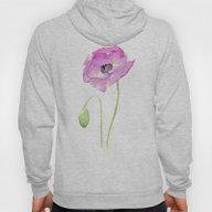 Flower Purple Poppy Flor… Hoody