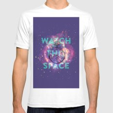 Watch this space SMALL Mens Fitted Tee White