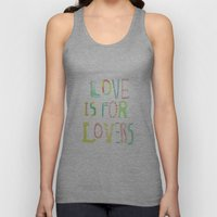 LOVE IS FOR LOVERS 2 Unisex Tank Top