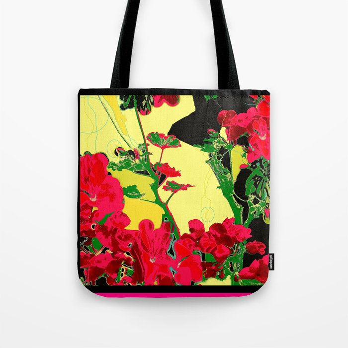 Cherry Red floral Abstract Design Tote Bag by SharlesArt Society6