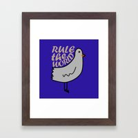 Rule the world Framed Art Print