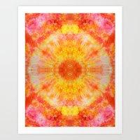 Orange Sunburst Art Print