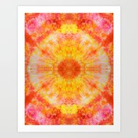 Orange Sunburst Art Print