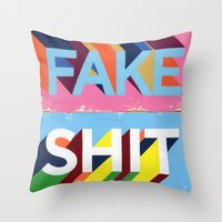FAKE SHIT Throw Pillow