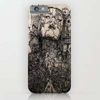 iPhone Cases featuring Nature Vs. Machine by Stephanie Henry