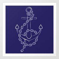 Anchor Pattern 1 Art Print