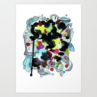 Hanging Worlds  Art Print