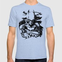 The Dark Knight Mens Fitted Tee Tri-Blue SMALL