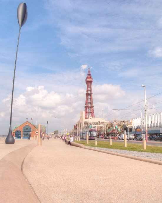 Blackpool Tower and Oar Art Print
