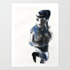 Rockgirl Art Print