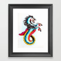 Hippocampus Framed Art Print