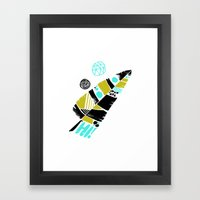 Feather Greeting Framed Art Print