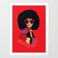 Feminist Afro Art Print
