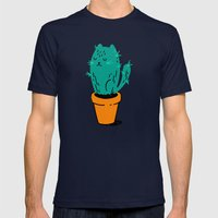 Cat-tus Mens Fitted Tee Navy SMALL
