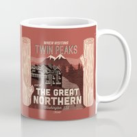 the Great Northern Hotel (Faux Canvas - rust) Mug