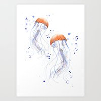 Jellyfishes Art Print