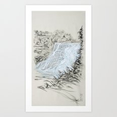 Local Gem # 6 - Ithaca Falls Art Print