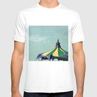 Big Top#3 Mens Fitted Tee White SMALL