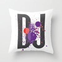 Art DJ Throw Pillow